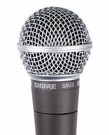 Shure SM58 cardioid microphone